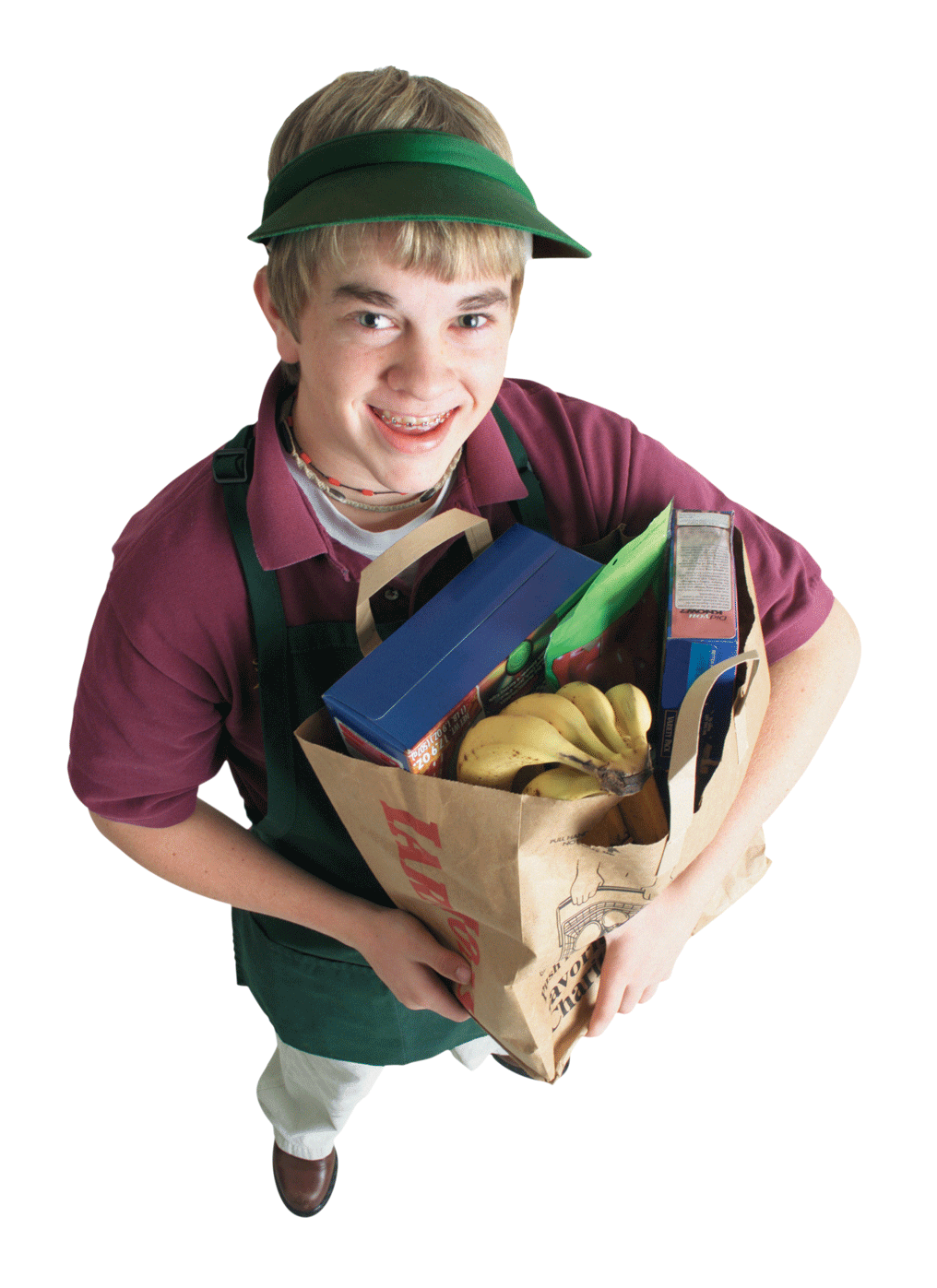 Photo: Boy with grocery bags
